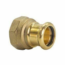 "Copper Press Fitting 15mm x RP 1/2"" CxFi Coupler"