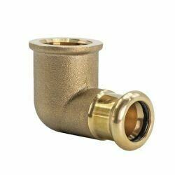 "Copper Press Fitting 15mm x RP 1/2"" CxFi 90° Elbow"
