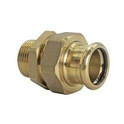 "Copper Press Fitting 15mm x 1/2"" Male Union Coupler"