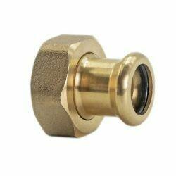 "Copper Press Fitting 15mm x RP 1/2"" CxFi Straight Swivel Connector"