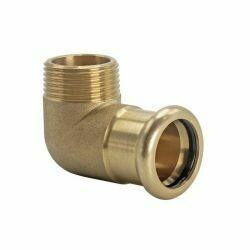 "Copper Press Fitting 22mm x RP 3/4"" CxMi 90° Elbow"
