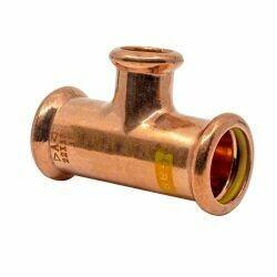 Copper Gas Press-Fit 28 x28 x 15mm CxCxC Branch Tee