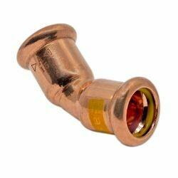 Copper Gas Press-Fit 22mm 45° Obtuse Elbow