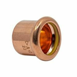 Copper Gas Press-Fit Cap End 22mm