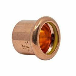 Copper Gas Press-Fit Cap End 22mm