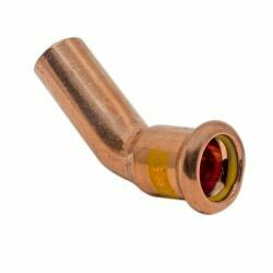 Copper Gas Press-Fit 28mm 45° Obtuse Street Elbow