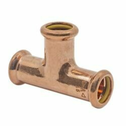 Copper Gas Press-Fit 35mm Equal Tee