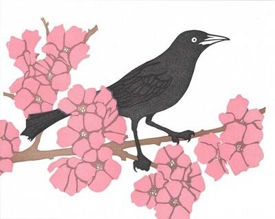BB cherry blossoms print