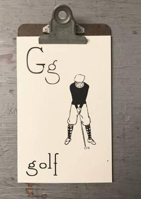 Golf Flashcard