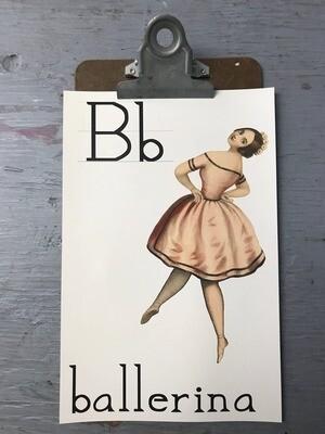 Ballerina Flashcard