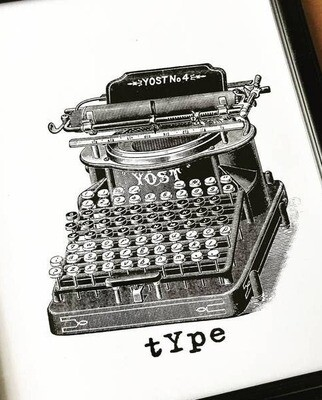 Creative Type print