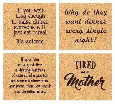 ELM mom life coaster set