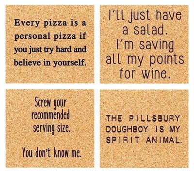 ELM wine o  coaster set