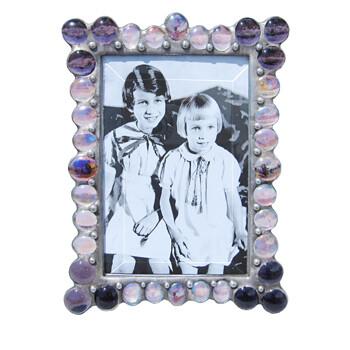 DM 4x6 purple bubble frame