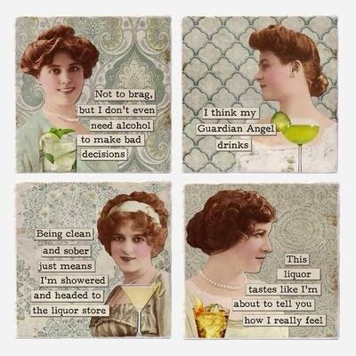 Vers Ladies Who Lush Coasters