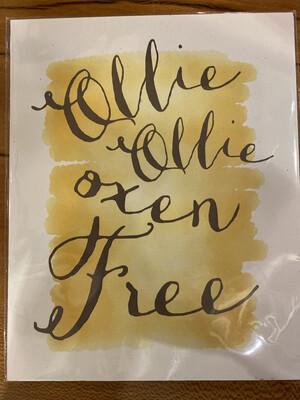 JD ollie ollie print