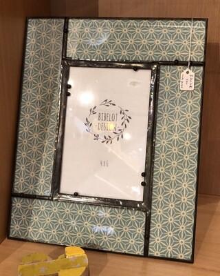 BIB turq. cream wide panel