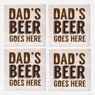 Vers Dad's Beer Coaster