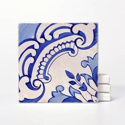 Vers Lisbon azure coasters