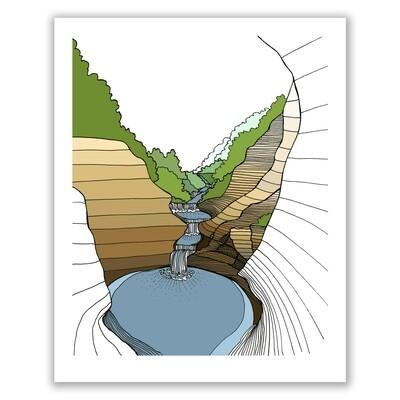 SGF rocky waterfall 8x10