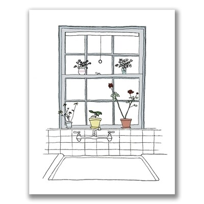 SGF plants kitchen window 5x7