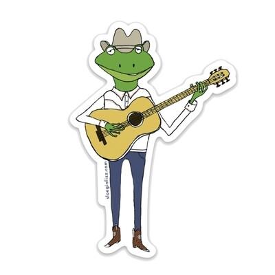 SGF frog cowboy sticker