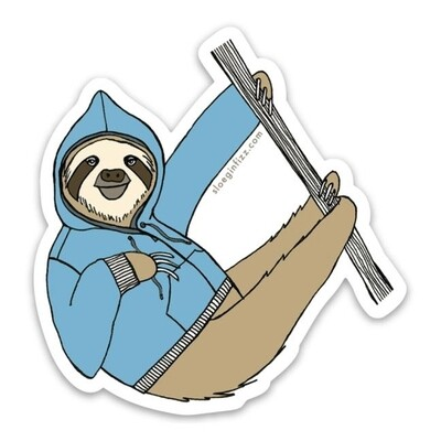 SGF sloth hoodie sticker