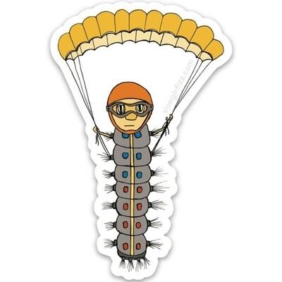 SGF caterpillar w/parachute sticker