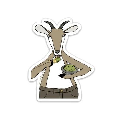 SGF goat gobbling guac sticker