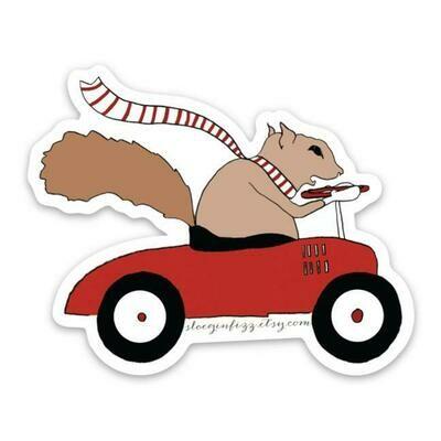 SGF squirrel driving car sticker