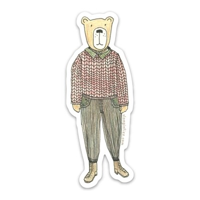 SGF hip bear sticker