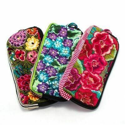 LUC floral long wallet