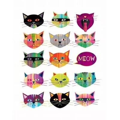 Plaid Cats - 11 x 14