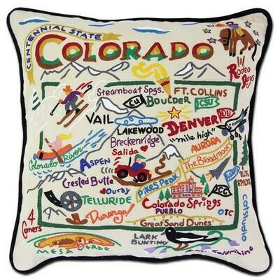 Colorado Hand-Embroidered Pillow