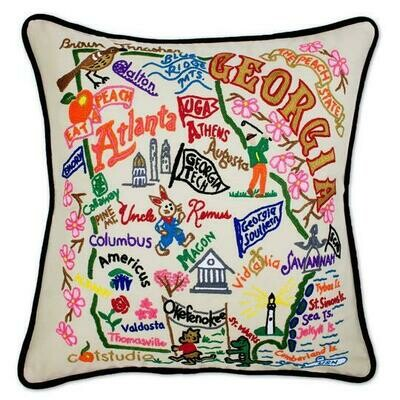 Georgia Hand-Embroidered Pillow