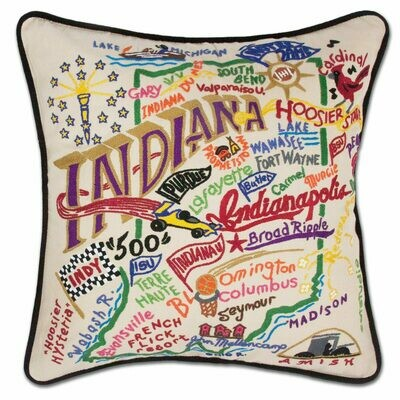 Inidiana Hand-Embroidered Pillow