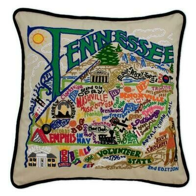Tennesse Hand-Embroidered Pillow