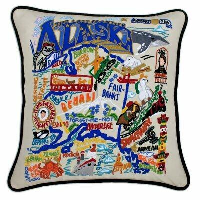 Alaska Hand-Embroidered Pillow