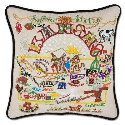 Kansas Hand-Embroidered Pillow