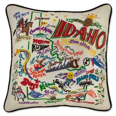 Idaho Hand-Embroidered Pillow