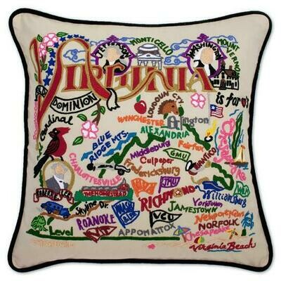 Virginia Hand-Embroidered Pillow