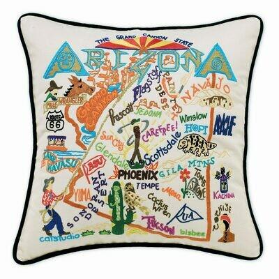 Arizona Hand-Embroidered Pillow