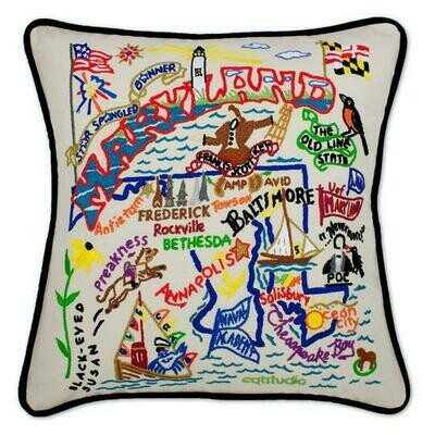 Maryland Hand-Embroidered Pillow