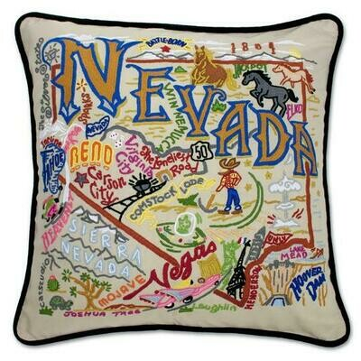 Nevada Hand-Embroidered Pillow