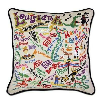 Louisianna Hand-Embroidered Pillow