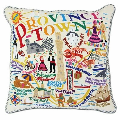 Provincetown Hand-Embroidered Pillow