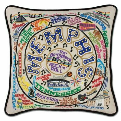 Memphis Hand-Embroidered Pillow