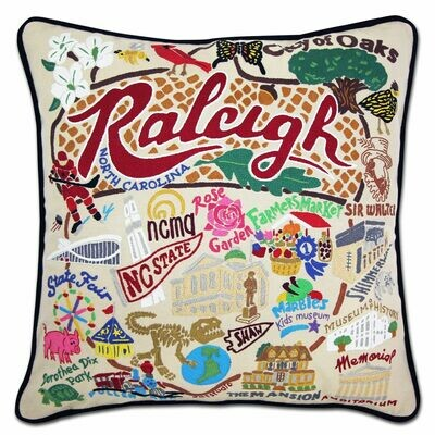 Raleigh Hand-Embroidered Pillow