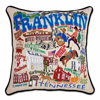 Franklin Hand-Embroidered Pillow