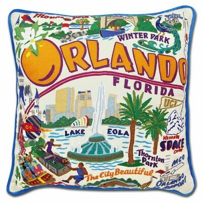 Orlando Hand-Embroidered Pillow